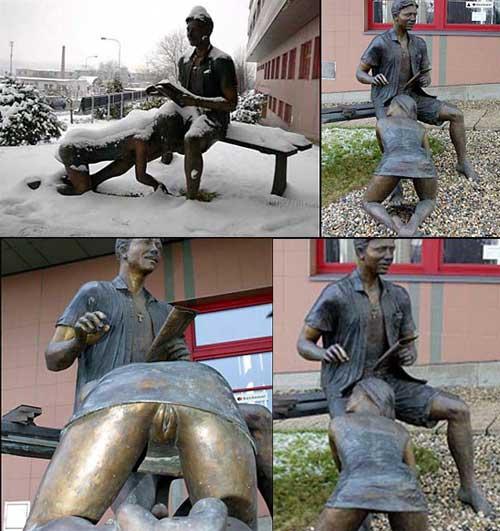 Чешский памятник минетчице